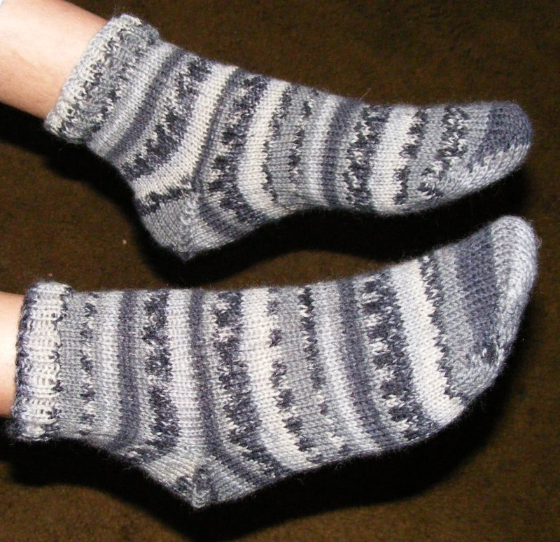 Socks done on the Kiss