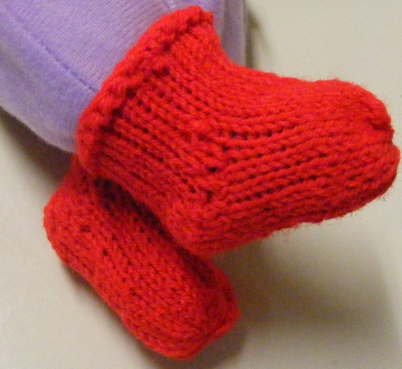 Baby booties done on the Kiss